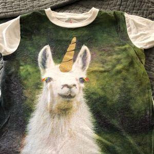Crewcuts (j crew kids) size 14 llama t-shirt
